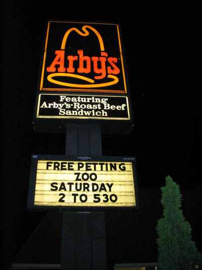 Arby's Petting Zoo