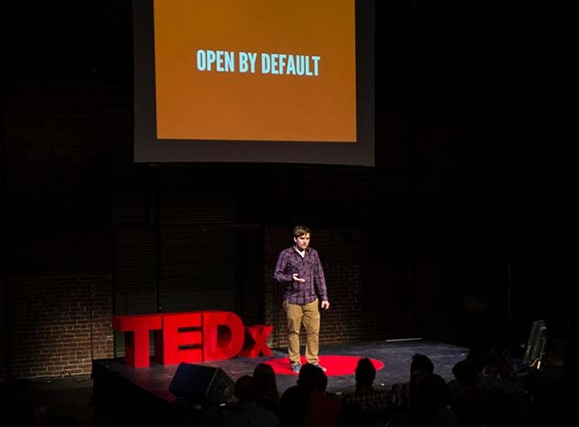Brad Frost speaking at TEDx Pittsburgh