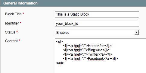 Magento Static Block in Action