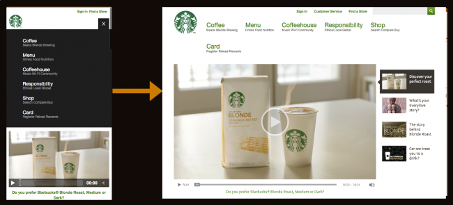 Starbucks Responsive Navigation