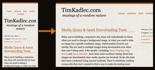 Tim Kadlec Responsive Navigation