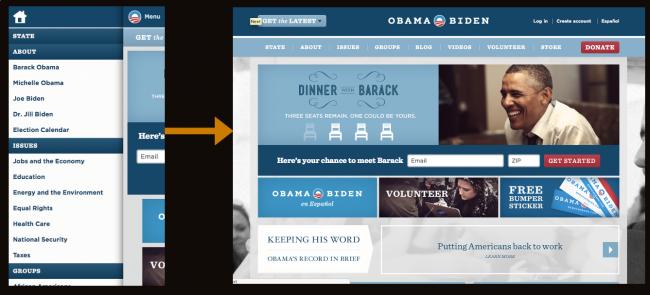 Obama's Left Flyout Nav