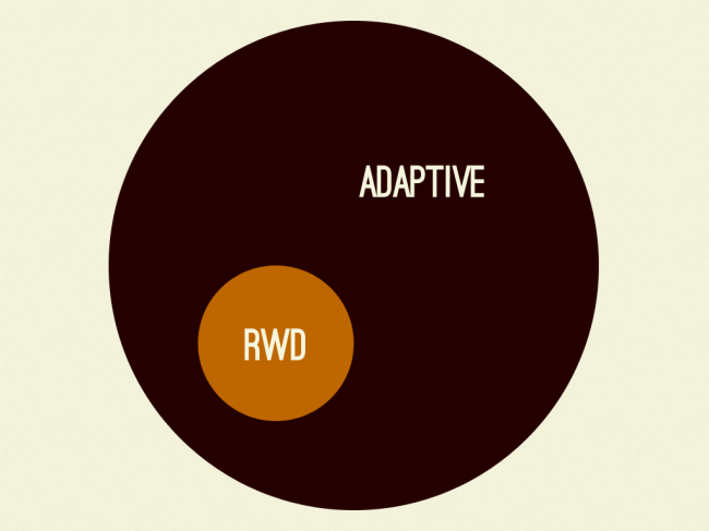 Responsive design is a subset of adaptive design