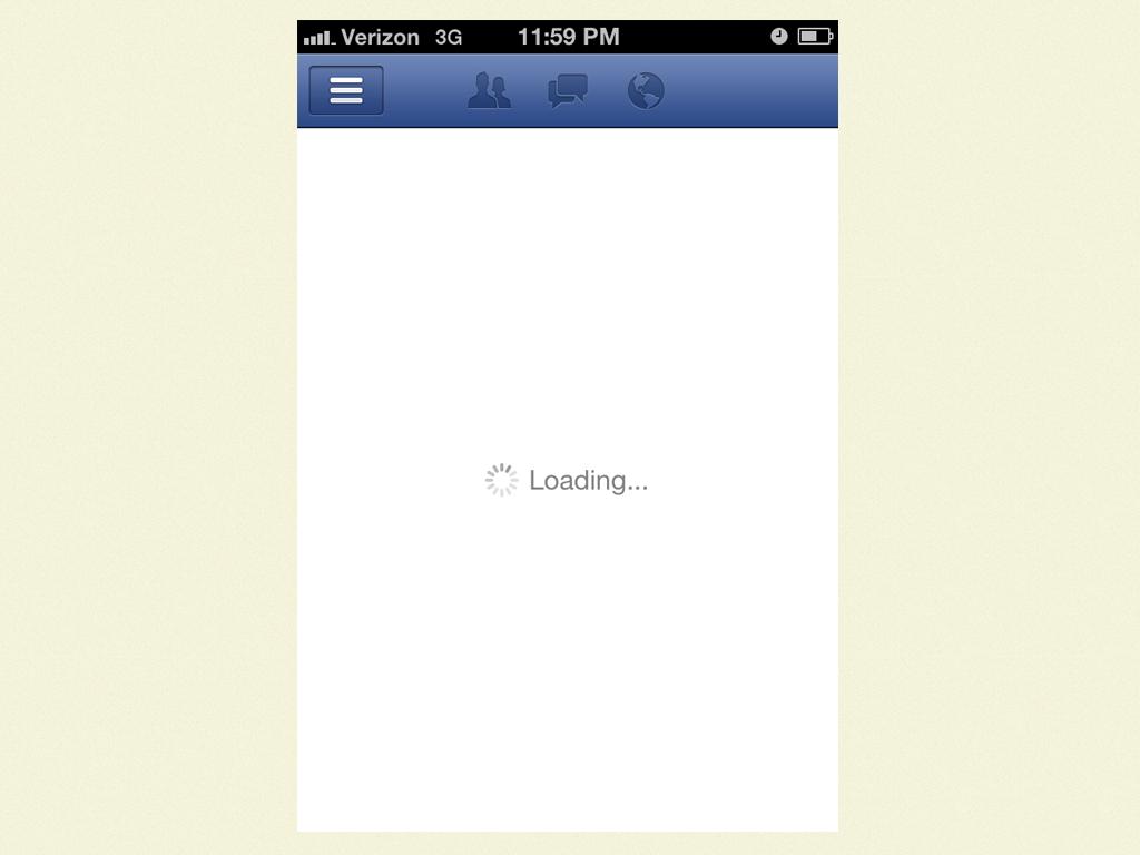 Facebook App Loading