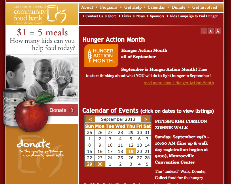 Pittsburgh Food Bank Website