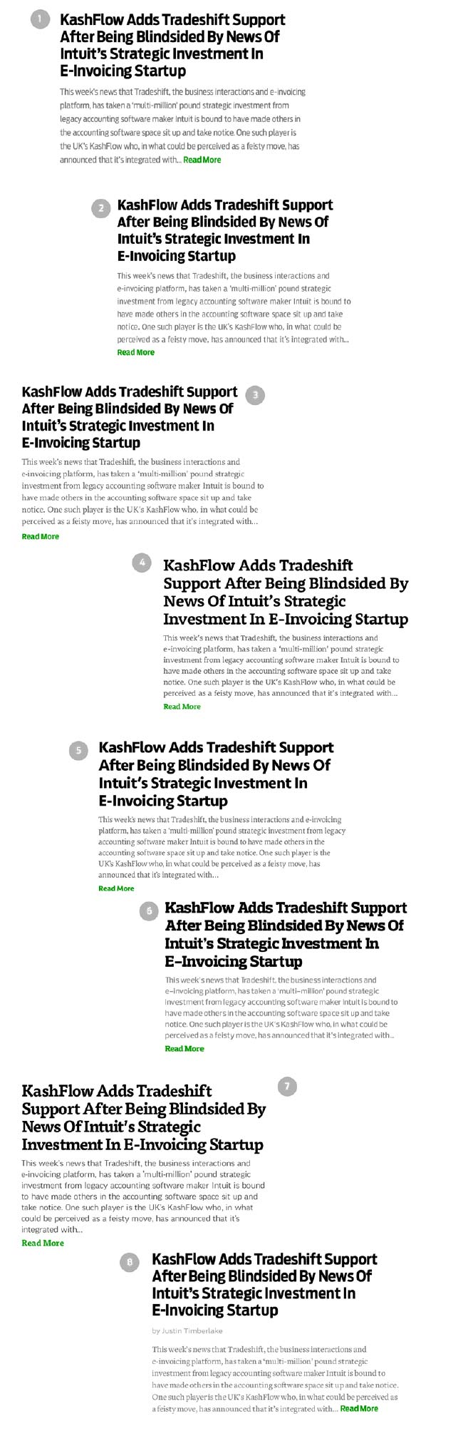 TechCrunch type explorations in Typecast