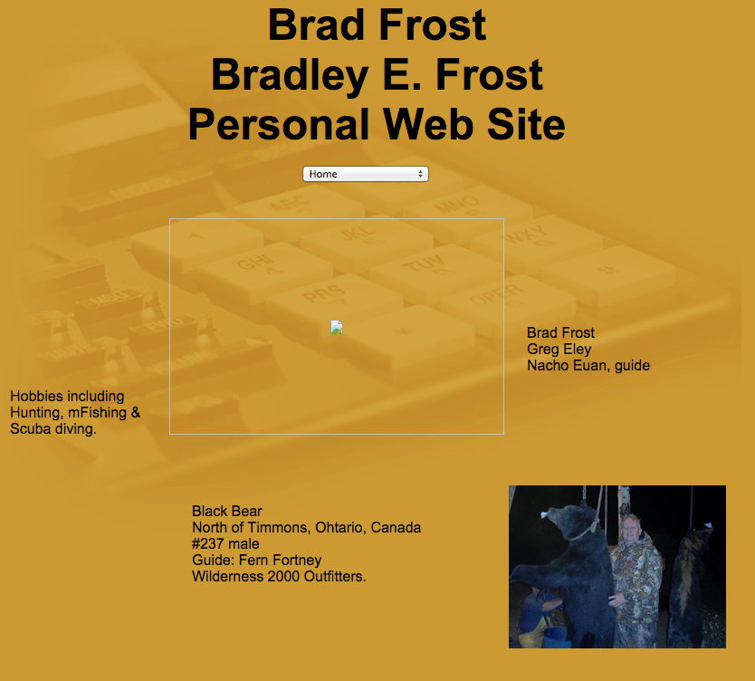 Bradfrost.com homepage, circa 2005