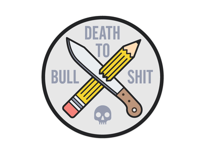 Death to Bullshit logo by Josh Higgins