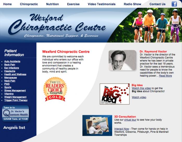 Wexford Chiropractic Centre website