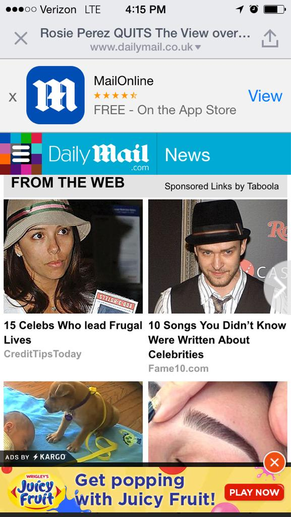 Daily Mail mobile advertising assault