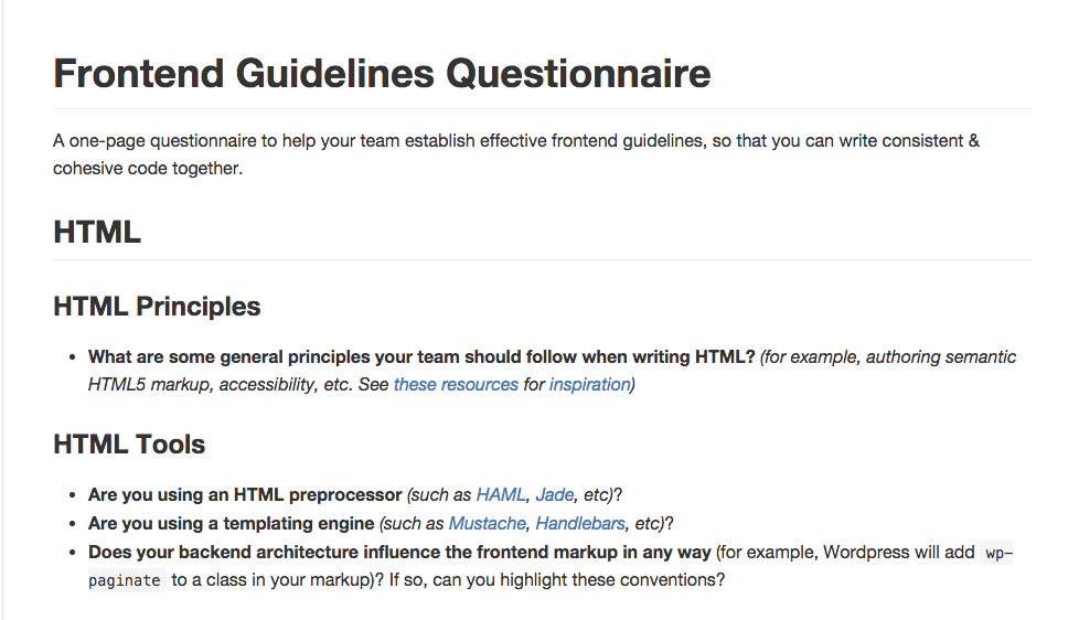 bradfrost:frontend-guidelines-questionnaire