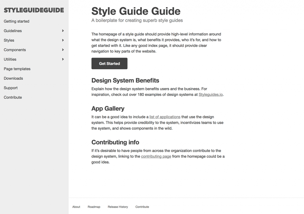 Style Guide Guide