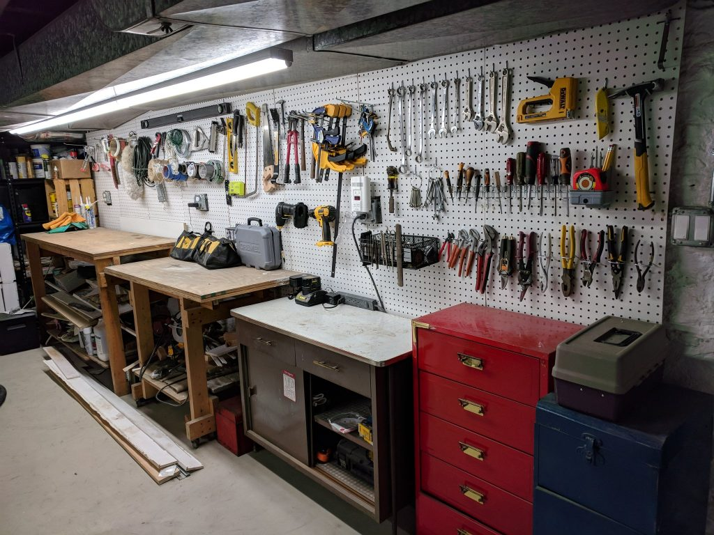 Tools in a tool shed