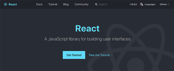 React homepage that reads